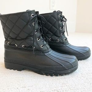 Sperry   Quilted Topsider Duck Boots   Black   9
